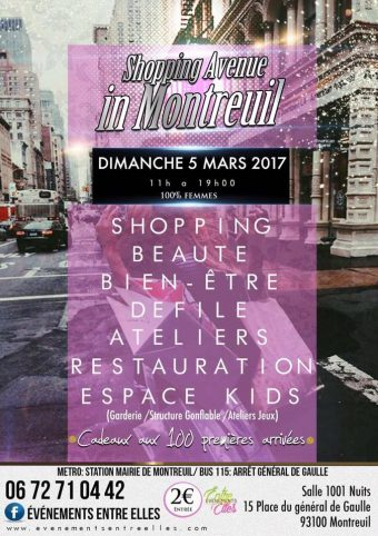 Shopping Avenue in Montreuil