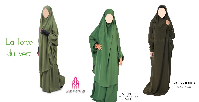les jilbab de couleur on aime le blog pratique de la femme musulmane. Black Bedroom Furniture Sets. Home Design Ideas
