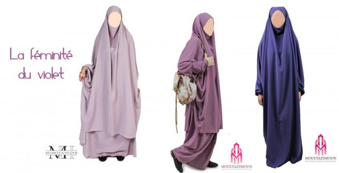 Les jilbab de couleur : on aime !