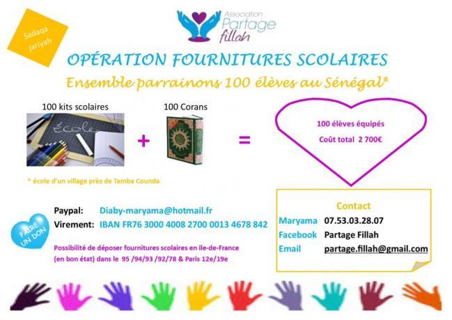 Défi solidaire ! 100 corans pour 100 élèves au Sénégal .