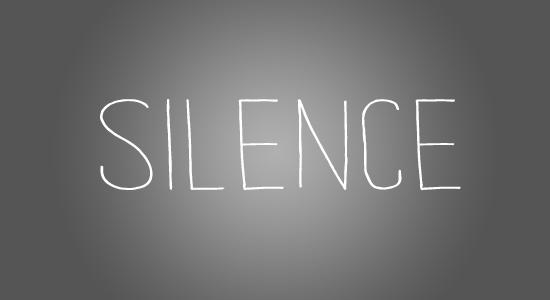 Le silence face à l'injure