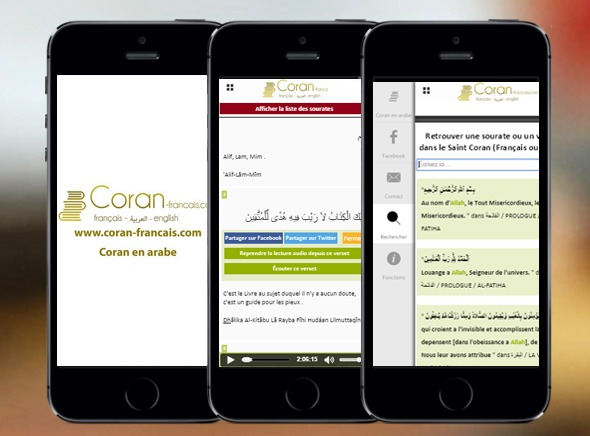application coran français
