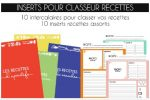 inserts fiches recettes