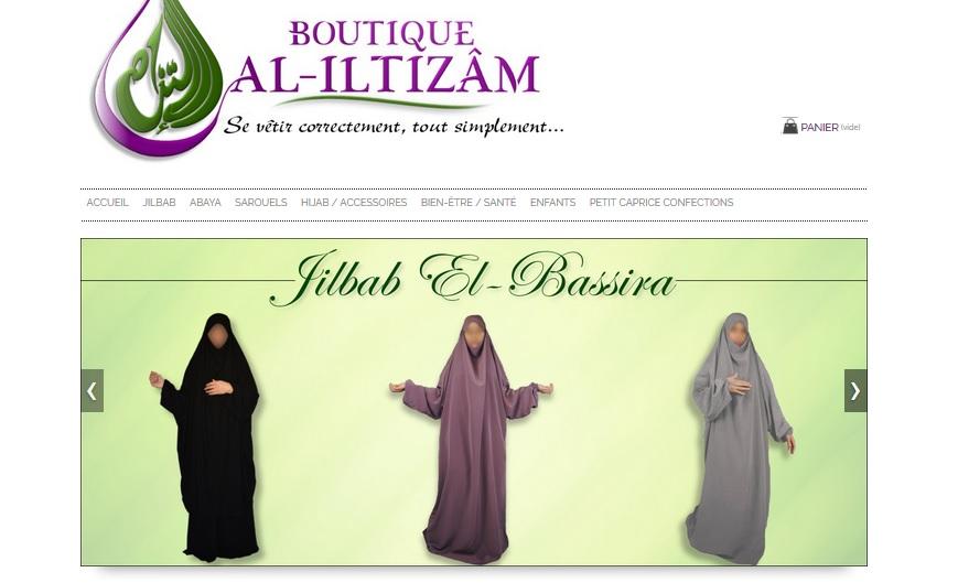 Boutique Al-Iltizâm, se vêtir correctement, tout simplement