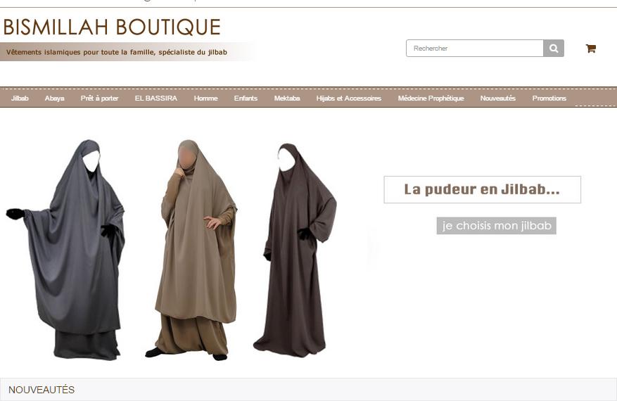 Bismillah boutique, spécialiste du jilbab El Bassira