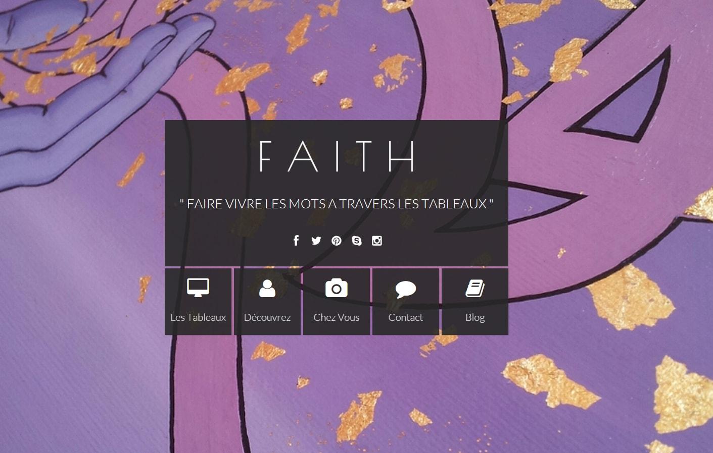 Faith, personnalisation de toiles caligraphiées