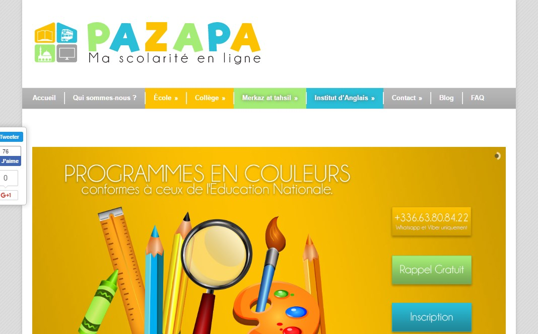 Pazapa, ma scolarité en ligne