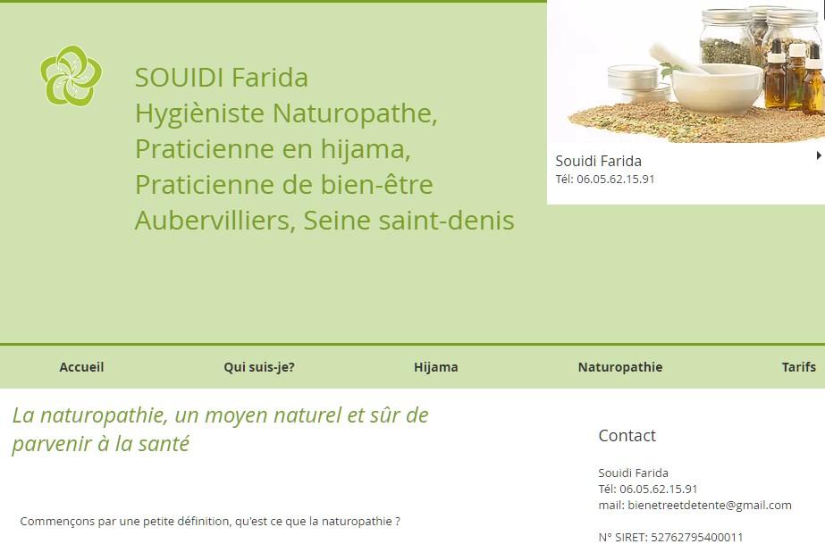 Souidi Farida, hygiéniste naturopathe et praticienne en hijama