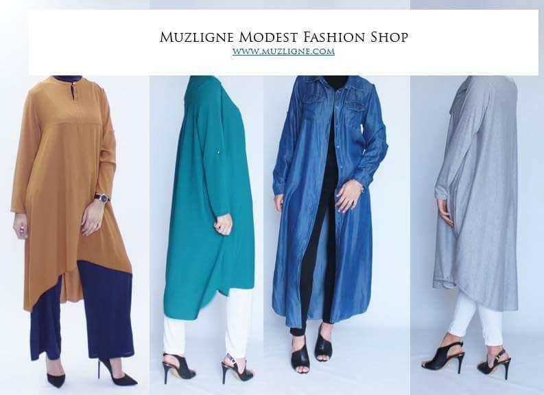 tuniques chemises amples muzligne