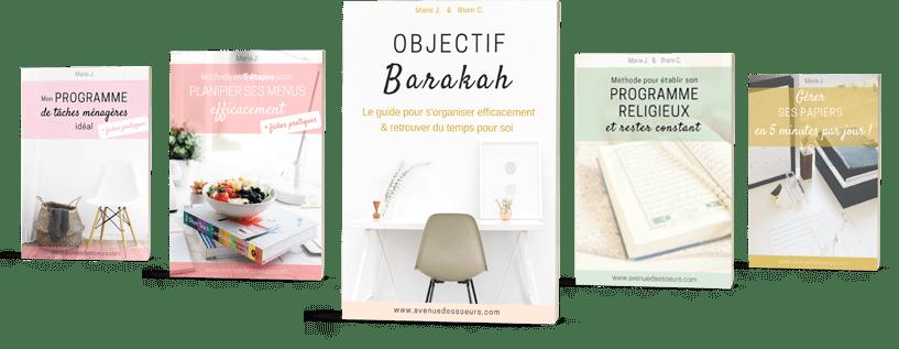 objectif barakah - méthode d'organisation