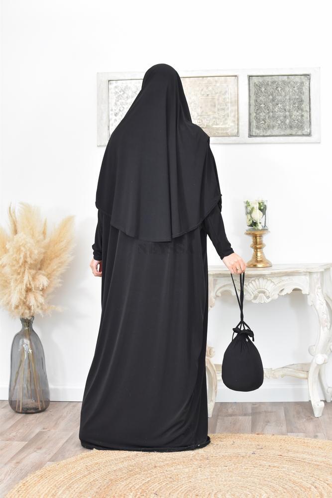 abaya de prière avec pochon
